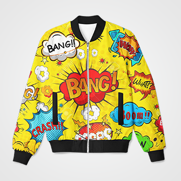 Boom Comic Collage   - Bomber Jacket