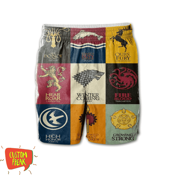 Game Of Thrones Pattern - All Over Printed Shorts