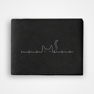 Cat Lines - Graphic Printed Wallets