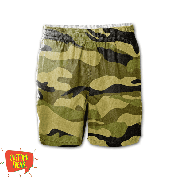 Camouflage - All Over Printed Shorts