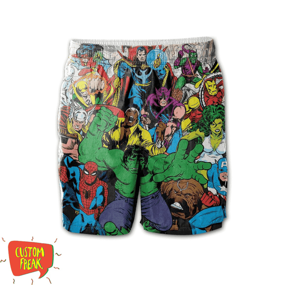 Marvel Heros - All Over Printed Shorts