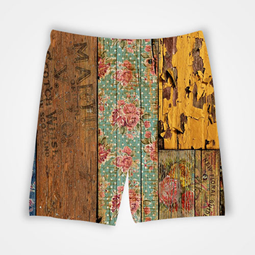 Wooden Pattern - All Over Printed Shorts