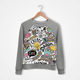 Doodle - Digital Printed Sweat Shirt