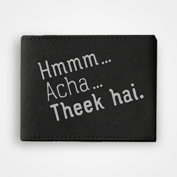 Hmm Acha Theek Hai - Graphic Printed Wallets