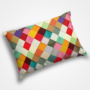 Colored Checked - Pillow Cover