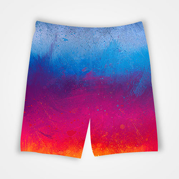 Color Shades  - All Over Printed Shorts