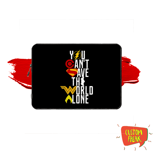 You Cant Save The World Alone - Dc Comic - Laptop & Tablet Sleeve