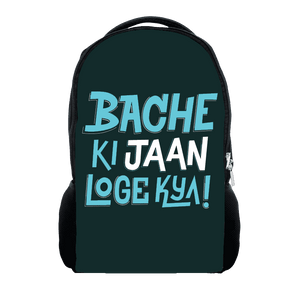 Bache Ki Jaan Loge Kiya - Backpack
