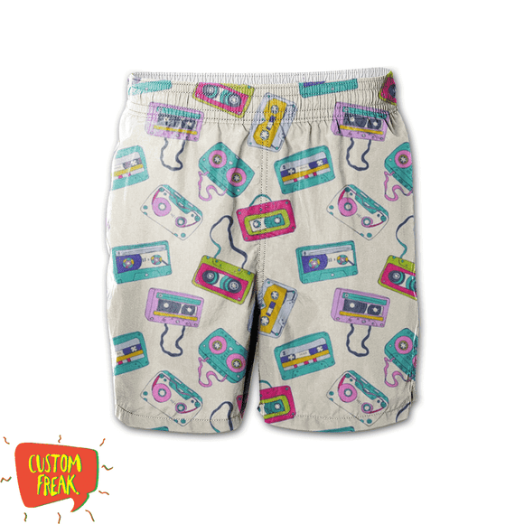 Cassette Patterns - All Over Printed Shorts