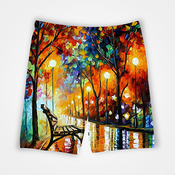 Painting Abstract - All Over Printed Shorts