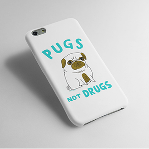 Pugs Not Drugs - Cell Cover