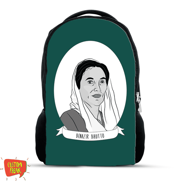 Benazir Bhutto - Independence Day Merchandise - Backpack - Custom Freaks