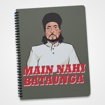 Main Nahi Bataunga - Laddan Jaffery - Notebook