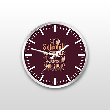 I Solemenly Swear That I Am Upto No Good - Wall Clock