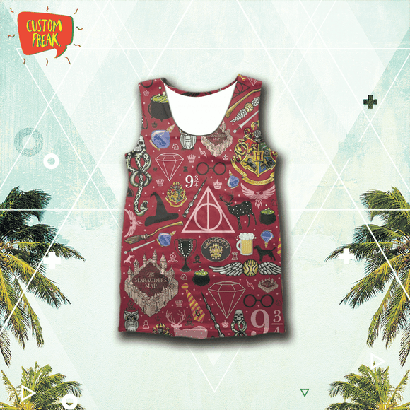 Harry Potter Pattern - Tank Tops