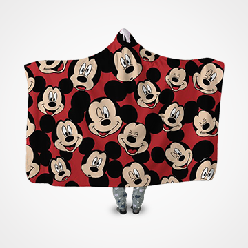 Micky Mouse Collage - Hooded Blanket