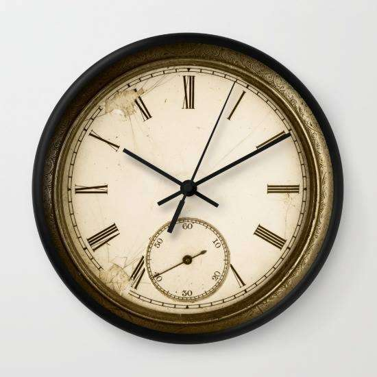 Antique Pocket Watch - Wall Clock
