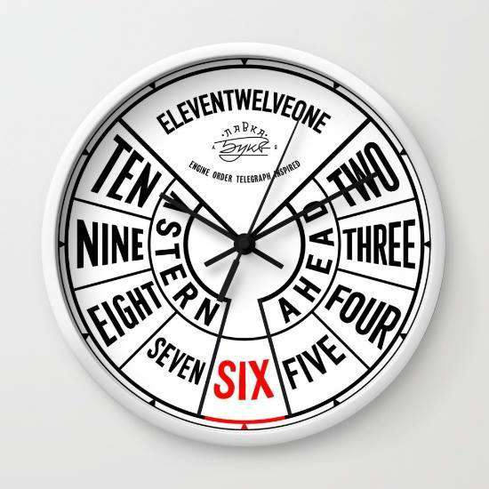 Engine Order Telegraph - Wall Clock
