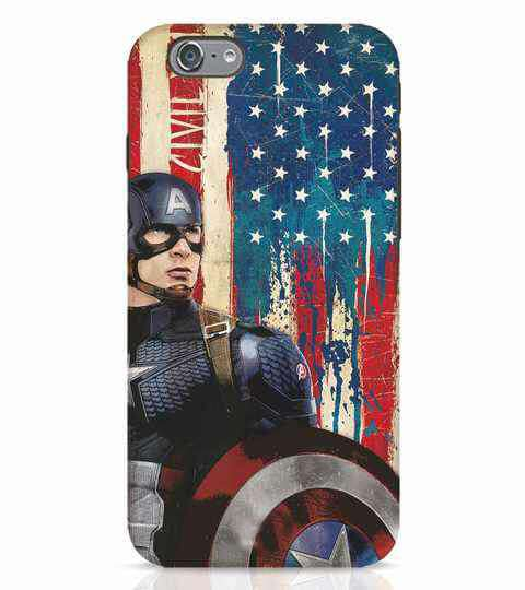 Captain America Printed Cell Cover - Cell Cover