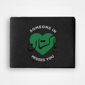 Someone In Pakistan Misses You - Graphic Printed Wallets