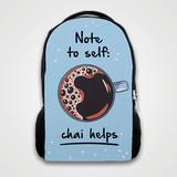 Note To Self Chai Helps   - Backpack