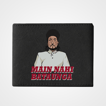 Main Nahi Bataunga - Laddan Jaffery - Graphic Printed Wallets
