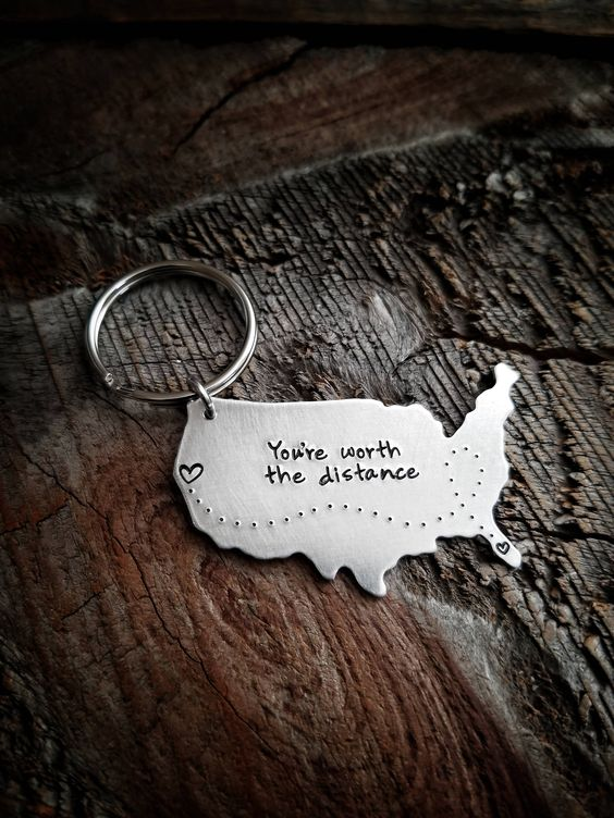 You're Worth The Distance - Engrave 3D Keychain