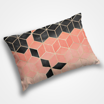 Pink Marble Gradient - Pillow Cover