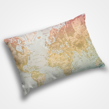 World Map - Pillow Cover