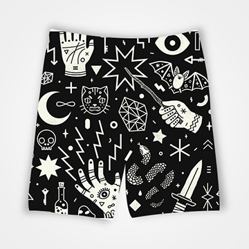 Magic Collage - All Over Printed Shorts