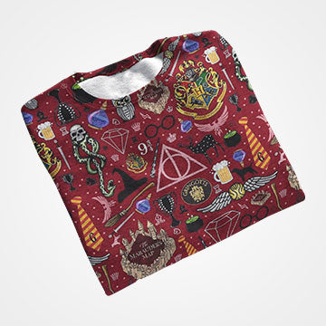 Hogwarts Collage - Harry Potter - All Over Printed T-Shirts