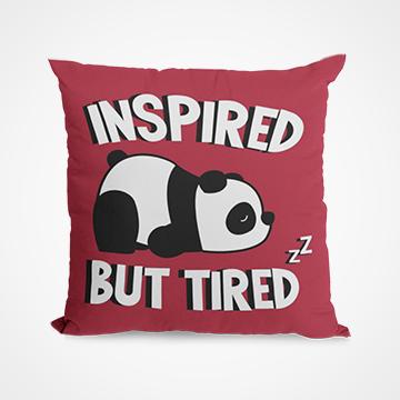 Inspired But Tired - Panda - Cushion