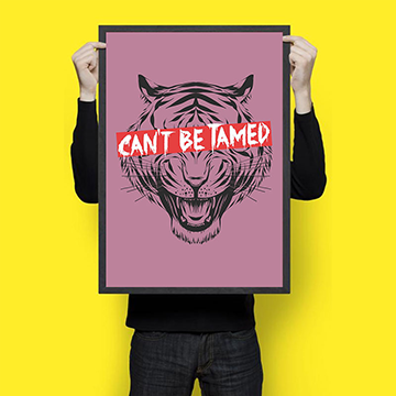Can't Tamed - Wall Hangings