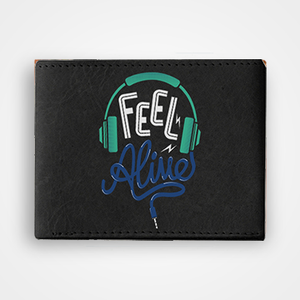 Feel Alive - Graphic Printed Wallets