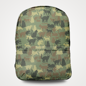 Camouflage Cats - Allover Printed Backpack