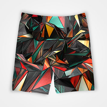 Abstract - All Over Printed Shorts