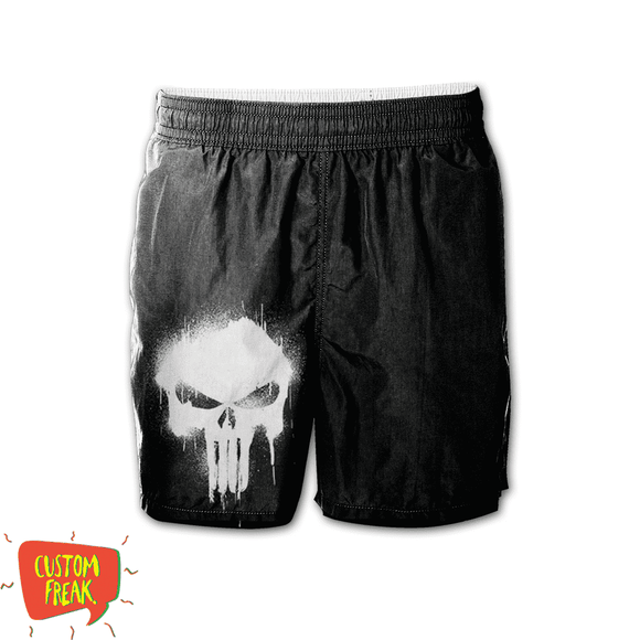 Punisher - Graphic Printed Shorts