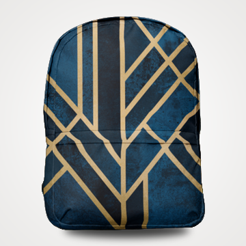 Abstract Pattern - Allover Printed Backpack