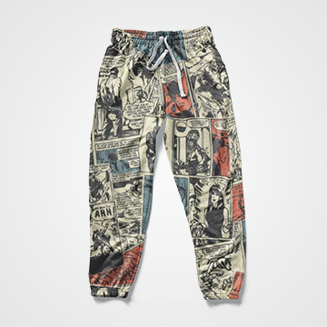 Comic Collage -  All Over Sweat Pants