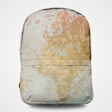 World Map - Allover Printed Backpack