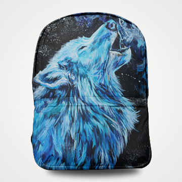 SALE - Wolf - Allover Printed Backpack