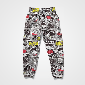 Cartoon Comic Collage - All Over Sweat Pants