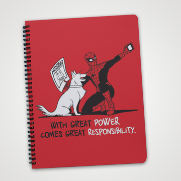 With Great Power comes great responsibility- spiderman - Notebook