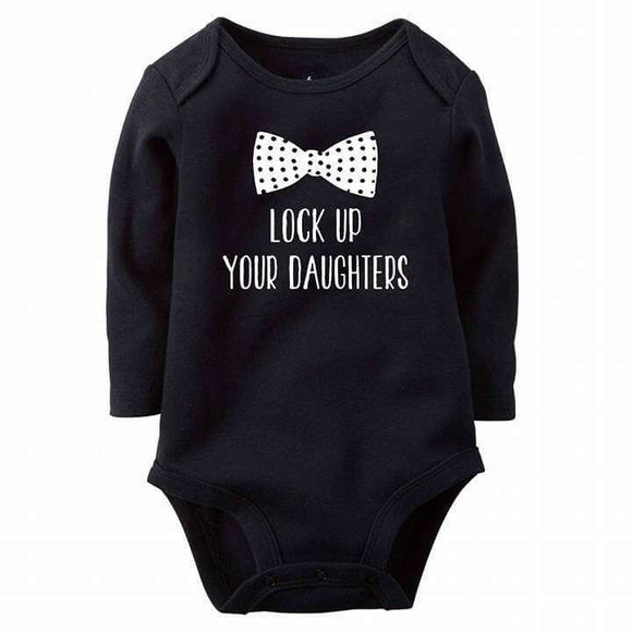 Funny Lock Your Daughters Baby Romper