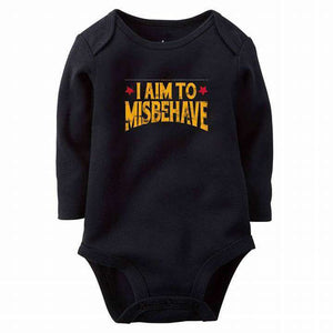 I Aim To Misbehave Baby Romper