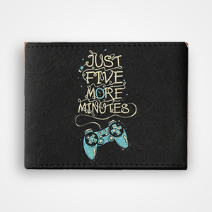 Just Five More Minutes - Graphic Printed Wallets