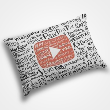 Youtube Pattern - Pillow Cover