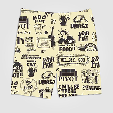 Friends Collage - All Over Printed Shorts