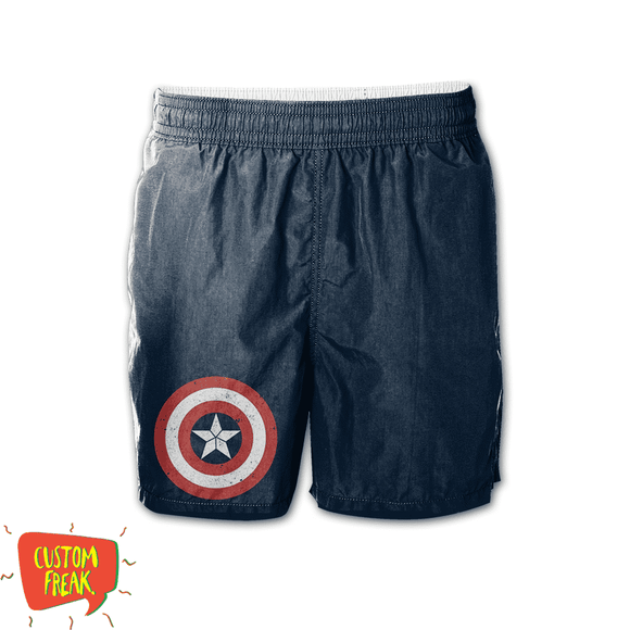 Captain America - Graphic Printed Shorts