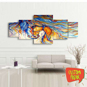 Abstract Horse - Set Of 5 - Wall Hangings